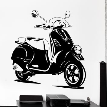 Wall Vinyl Decal Scooter Bike Biker Speed Home Interior Decor Unique Gift z4187