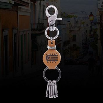 ONETOW 2017 Male New Fashion Jewelry Puerto Rico Letter KeyChain Retro Creative Classic Metal Men Car Ornament Key Chain Bijoux