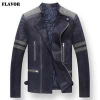 Men's Pigskin real leather jacket motorcycle Genuine Leather jackets padding cotton warm coat men
