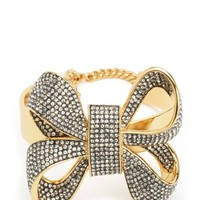 Oversized Pave Bow Cuff by Juicy Couture