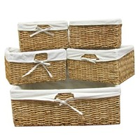 Light Brown Corn Basket Set with Lining | Shop Hobby Lobby