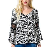 Abstract Bell Blouse