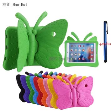 2017 New For iPad Air Case Cover Kids 3D Cute Butterfly Shockproof EVA Foam for Apple iPad Air 2 for Ipad Pro 9.7 + One Stylus