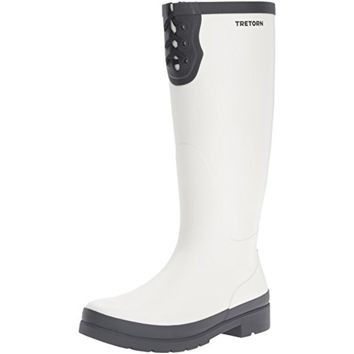 Tretorn Womens Lacey Knee-High Contrast Trim Rain Boots