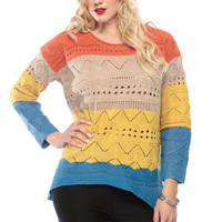 Autumn Tones Chunky Knit Over Sized Sweater