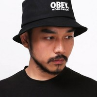 XQUARE Worldwide Black Bucket Hat