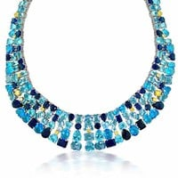 Bling Jewelry Blue Luminous Chain
