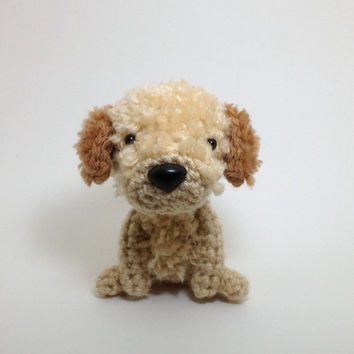 Stuffed Dog Labradoodle Amigurumi Dog Crochet Puppy Plush Doll / Made to Order