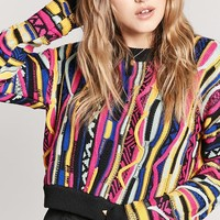 Multicolored Cable Knit Sweater