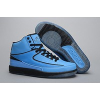 Air Jordan 2 Retro AJ2 Blue Basketball Sneaker Size US 8-13