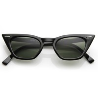 Womens Sharp Pointed Flat Top Cat Eye Retro Sunglasses 8683