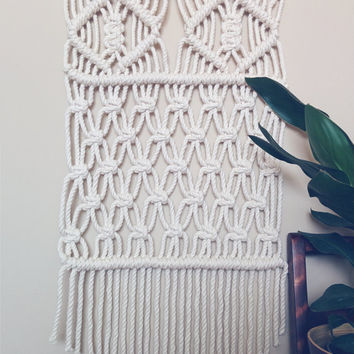 Macrame Wall Hanging (comes with FREE plant hanger)