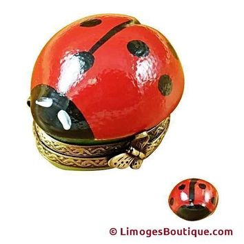 LADY BUG W/ LADYBUG INSIDE LIMOGES BOXES