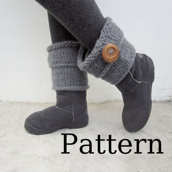 Leg warmers/ Ugg boots cuff PDF pattern for Knitting by Nawanowe