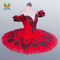 Professional ballet tutu dress for girl Red Classical Ballet tutu skirt Dacnce clothing for stage Ballerina pancake tutus