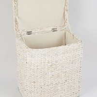 Wicker Laundry Basket (51cm x 44cm x 30cm) - Matalan