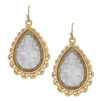 HauteChicWebstore Women's Shattered Gold Tone Tear Drop Earrings - www.shophcw.com