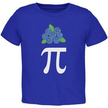 PEAPGQ9 Halloween Math Pi Costume Blueberry Day Toddler T Shirt