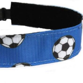 Blue Soccer Headband