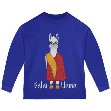 LMFCY8 Funny Dalai Lama Llama Pun Toddler Long Sleeve T Shirt
