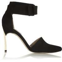 Senso Olympia bow-embellished suede pumps – 50% at THE OUTNET.COM