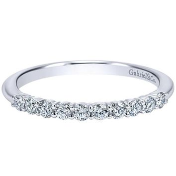 "Gabriel ""Darby"" Straight Prong Set Diamond Wedding Ring"