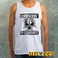 Corrosion of Conformity Logo Clothing Tank Top For Mens