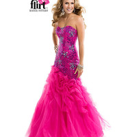 Flirt by Maggie Sottero 2014 Prom Dresses - Vivid Fuchsia Puprle Lily Glittering Fit & Flare Tulle Dress