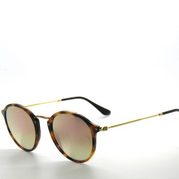 RAY BAN SunglaSSeS 2447 SPOTTED HAVANA/COPPER FLASH GRADIENT 1160/7O Rayban 49