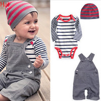 Kids Overall Clothes Newborn Striped Romper Baby Denim Suspenders Pants Jumpsuits Toddler Jeans Infant Boys Girls Denim Pants SV006645
