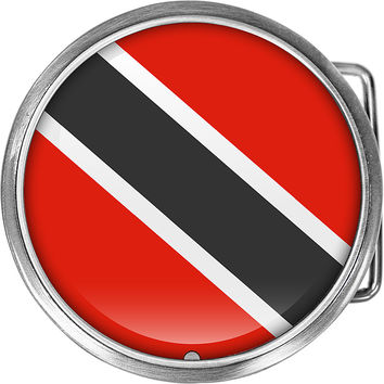 Trinidad and Tobago Flag Belt Buckle