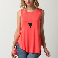 Jersey Sleeveless Hi-low Top (more colors)