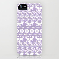 Lilac Purple Lavender Ugly Holiday Sweater iPhone Case by Rex Lambo | Society6