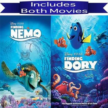 Walt Disney's Finding Nemo & Finding Dory DVD Set 2 Movie Collection