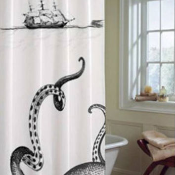 Kraken Shower Curtain