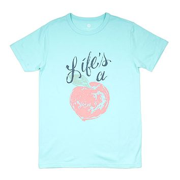 Life's a Peach Tee by Lauren James