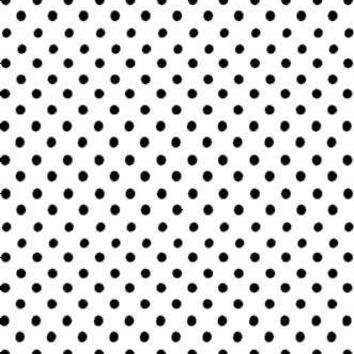 Poly Pattern White With Polka Quarter Inch Dots 5x9 Background - AB878