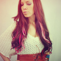 $15.00 Colorful Human Hair Extensions Colored Hair by Cloud9Jewels