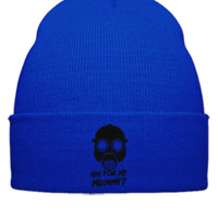 DOCTOR WHO ARE YOU MY MOMMY Embroidery - Beanie Cuffed Knit Cap