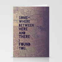 Here & There Stationery Cards by Leah Flores Designs