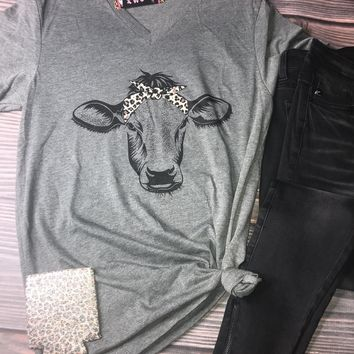 Leopard Cow Graphic Tee (S-2XL)
