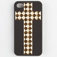 Studded Cross Iphone 4/4S Black Combo One Size For Women 21702114901