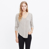 Anthem Long-Sleeve V-Neck Tee in Double Stripe