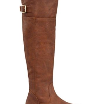 Justice Knee High Rider Boot, Tan