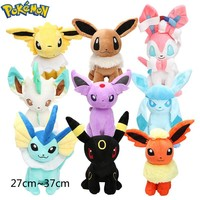9pcs/set  Plush Eevee Jolteon Umbreon Flareon Espeon Vaporeon Sylveon Stuffed Animal Dolls  ToysKawaii Pokemon go  AT_89_9