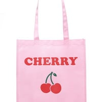 Cherry Graphic Shopper Tote