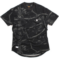 Dotted Scoop Bottomed T-Shirt Black Realtree Camo