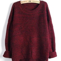 Red Cosby Sweater