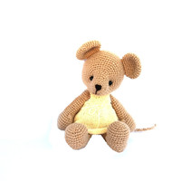 mouse crochet toy cute mouse plushie stuffed animal ballerina doll mouse plushie crochet doll bright pale yellow pale toy for children skin