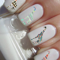 Tribal Giraffe nail decals tattoos nail art